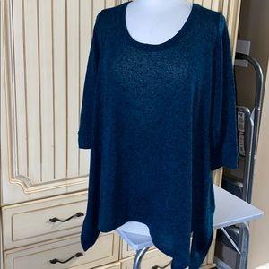 Dark Blue Sweater with Peek-A-Boo Back
